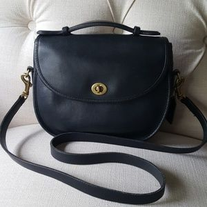 Vintage Coach black small plaza handbag 1980s